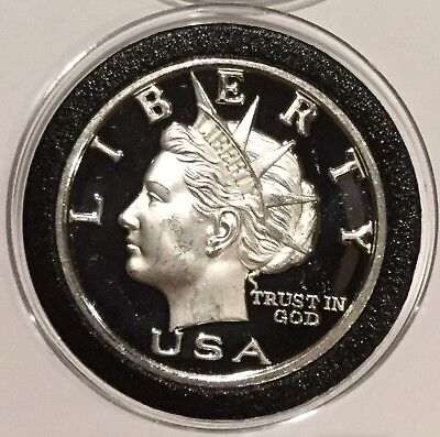 2003 NORFED Liberty Head Proof Coin 1 Troy Oz .999 Fine Silver Rare Round Medal