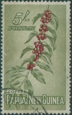 Papua New Guinea 1958 SG24 5/- Coffee Beans FU