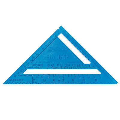 Empire POLY CAST METRIC RAFTER SQUARE 180mm High-Visibility BLUE *USA Made