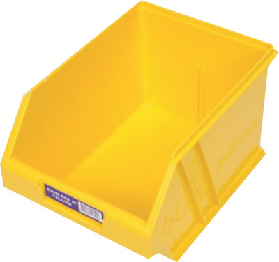 Fischer STOR-PAK-60 PLASTIC STORAGE BIN 200x275x165mm 6L Angled Front YELLOW
