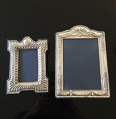 Pair Of Sterling Silver hallmarked photo frames