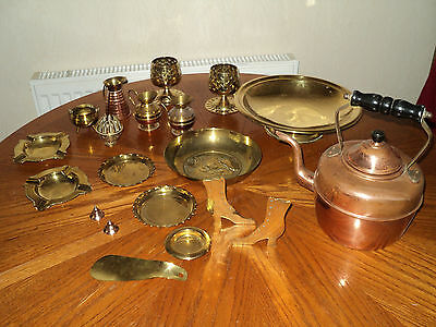 VINTAGE JOB LOT COLLECTION OF BRASS & METAL Collectible 20 PIECES*******