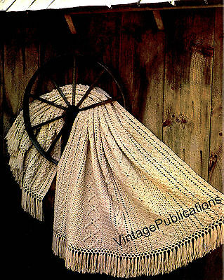 Afghan Pattern .. Crochet Aran Afghan Rug .. Stunning Throw Rug .. Copy