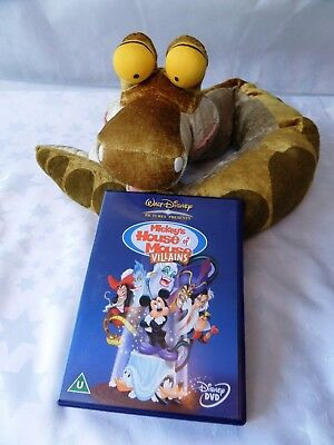 Disney Kaa Snake Jungle Book Plush Puppet & DVD Mickey's House of Mouse Villains