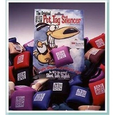 NEOPRENE PET TAG SILENCER by Quiet Spot - FITS 3-4 TAGS - WEATHERPROOF! PURPLE