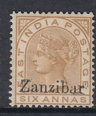 Zanzibar 1895 6a Pale Brown SG13m Opt Double Fine Un-Priced by Gibbons Scarce