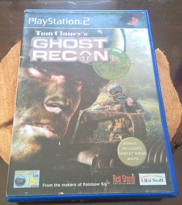Tom Clancy's Ghost Recon on PS2 with Manual