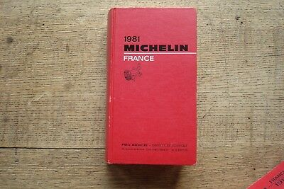 Ancien Guide Michelin France 1981