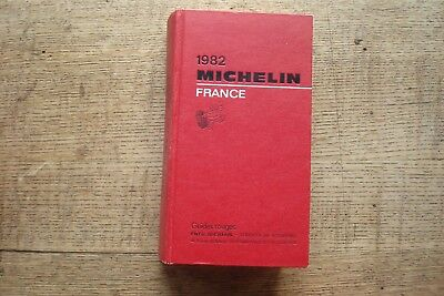 Ancien Guide Michelin France 1982