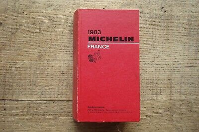 Ancien Guide Michelin France 1983