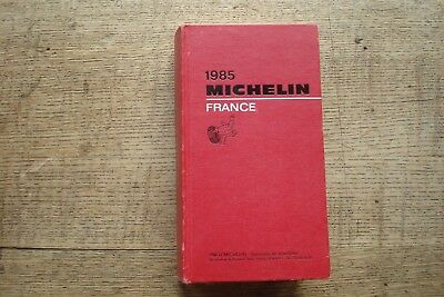 Ancien Guide Michelin France 1985