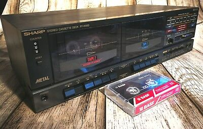 Sharp RT-W500 Stereo Dual Cassette Deck mit Dolby & Dubbing