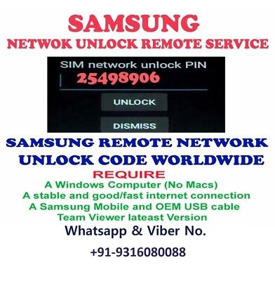 Remote Unlock Code Service SAMSUNG Galaxy Sol Amp 2 J3 all USA Canada Carriers