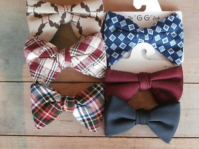 Vintage Lot of Bow-Ties (6) Snapper Butterfly Bow, Royal Rust Ormond