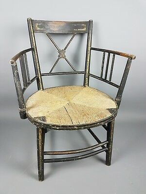 Regency Ebonised & Gilt Armchair