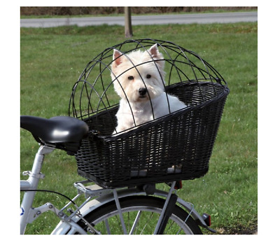 Bicycle DOG BASKET Trixie REAR Mounted Bike Wicker Carrier