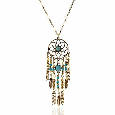 Dreamcatcher Necklace Pendant Faux Turquoise for Women Boho Free USA Shipping