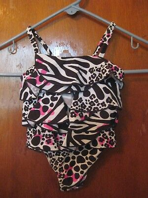 CARTER'S   Girls Size 18  MONTHS   Bathing Swimming SuiT   BLACK WHITE PINK NEW