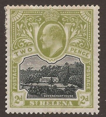 ST. HELENA 1903 SG57 1903 2d black and sage-green MM ** see notes**  (JB2036