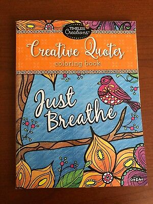 Cra-Z-Art TIMELESS CREATIONS Creative Quotes Coloring Book - Just Breathe
