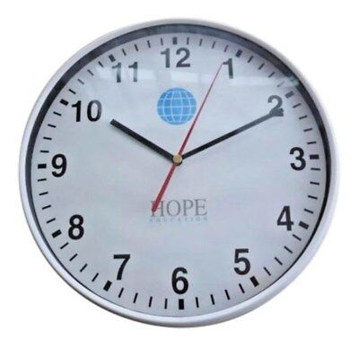 Hope Education Wall Clock Ticking Analogue Round Home Kitchen Office School