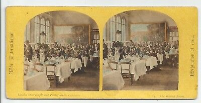 Stereo Stereoview Genre Tinted International Exhibition 1862 London LSC 1860er