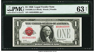 1928 RED SEAL FUNNYBACK PMG Choice Uncirculated 63 UNC 63