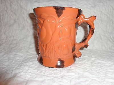James Seagreaves Glazed Pottery Bird & Fruit Tree Design Decorated Mug