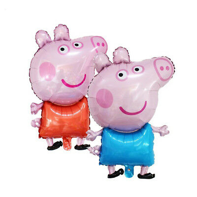 Large 31``Peppa pig  George Balloon Birthday Party Foil Air Helium Fill Balloon