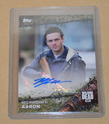 Topps On Demand The Walking Dead Autograph card 17MO-A Ross Marquand 20/25