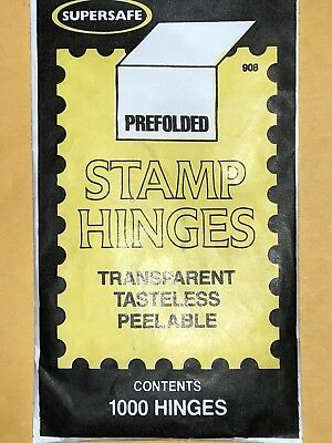Supersafe Stamp Hinges -1000 Per Pack  ***10 % Will Be Donated To Our Vets ***
