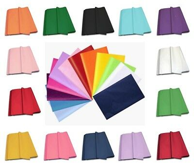 LUXURY TISSUE PAPER - Acid Free Sheets 75cm x 50cm - 14 Colours To Choose From