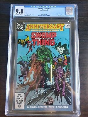 Swamp Thing 50 DC 1986 CGC 9.8 White pgs. 1st Justice League Dark Hot!