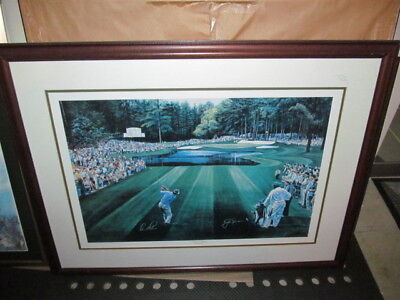 """MASTERS TED HAMLIN """"SUNDAY IN AUGUSTA"""" Jack Nicklaus Arnold Palmer Golf Picture"""