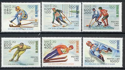 Laos 1983 - MNH set of 6 '84 Winter Olympics, Sarajevo 4.70 cv 473-78 lot 2