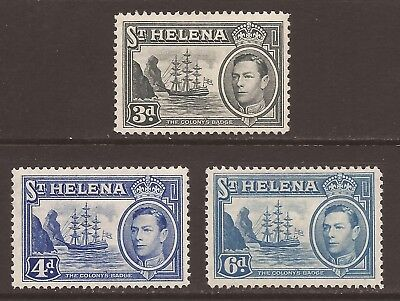 ST HELENA KGVI 1938-44 SG135a, 135b &136 All MM (JB2043)