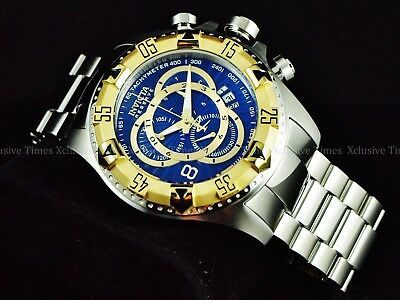 Invicta Men's 52mm Reserve Excursion TOURING Ed Royal Blue Swiss Chrono SS Watch