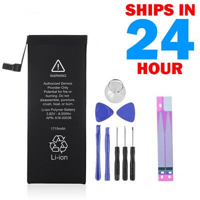 """New 1715mAh Internal Battery Replacement For Apple iPhone 6s 4.7"""" +Tool +Tapes"""