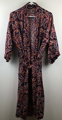 Christian Dior Monsieur Vintage Mens One Size Smoker's Robe Lounge Paisley