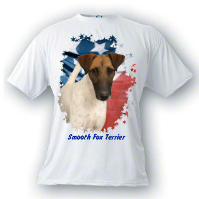 Smooth Fox Terrier # 7  Stars & Stripes  PERSONALIZED  Custom  Pet T shirt  gift