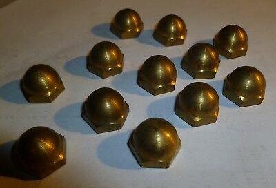 """Acorn Hex Cap Nut Solid Brass,3/8-16, 1/2"""" Height Qty 12"""