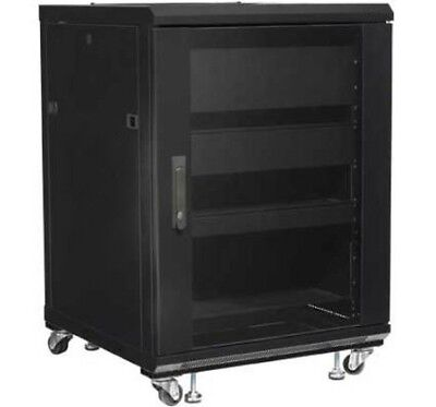 Cabinet Rack 19 600x600 15U for Audio Video Black I-CASE AV-2115BKTY