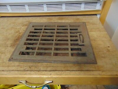 vintage /  antique  cast iron floor grate #   5422