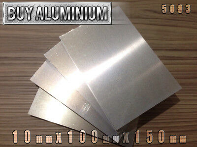 10mm Aluminium Plates / Sheets 150mm x 100mm - 5083