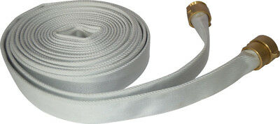 SALE White Double Jacket Fire Hose Tenacity Synthetic Polyester Yarn 15M