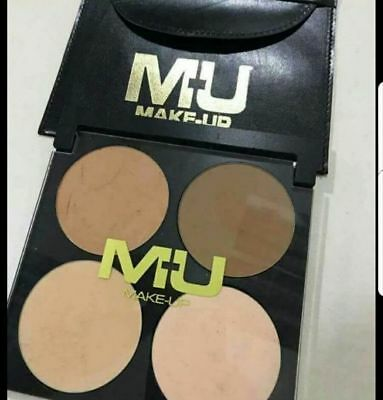 Palette A4 2 Terre e 2 Cipria im Polvere con Astuccio in Simil Pelle MU MAKE UP