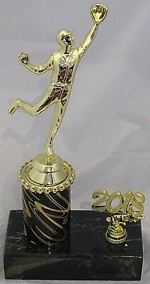 Male Baseball Catcher Figurine Trophy 238mm with Year Engraved FREE
