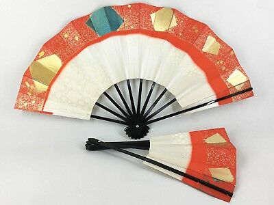 Set of 2 Vintage Japanese Odori 'Maiogi' Folding Dance Fans from Kyoto: Feb18-A