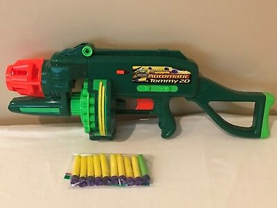 Buzzy Bee Toys Air Blasters Motorized Automatic Tommy 20 Dart Gun Ammo Batteries
