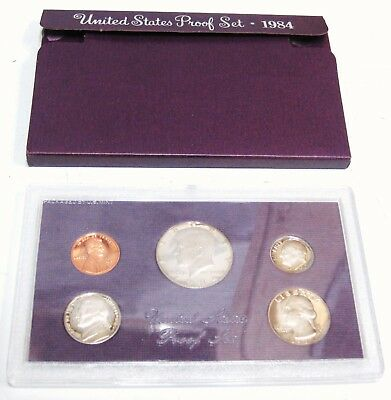 1984 S United States U.S Mint Proof 5 Coin Assorted Set Original Box